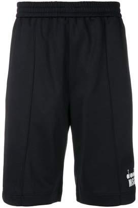MSGM X Diadora side stripe track shorts