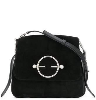 J.W.Anderson Black Suede Disc Bag