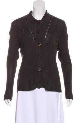 Fendi Knit Button-Up Jacket