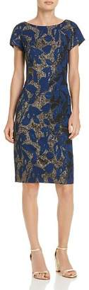 Adrianna Papell Metallic Jacquard Sheath Dress