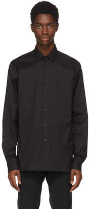 Prada Black Stretch Poplin Shirt
