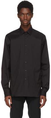 Prada Black Stretch Poplin Shirt