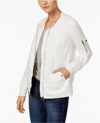 Style & Co Zipper-Embellished Bomber Jacket, Only at Macy's $69.50 thestylecure.com