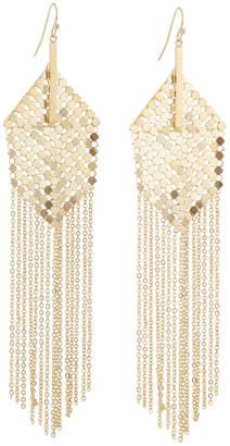 Panacea Mesh & Chain Fringe Earrings