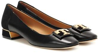 Tory Burch Gigi leather and suede pumps