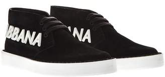Dolce & Gabbana Black Suede Laced Up Sneakers