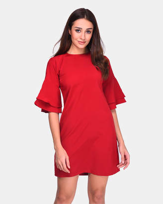 Trumpet Half Sleeve Dress