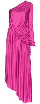 Halpern one-shoulder asymmetric dress