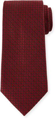 Ermenegildo Zegna Tonal Ovals Silk Tie, Red