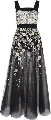 Elie Saab Floral Embroidered Gown