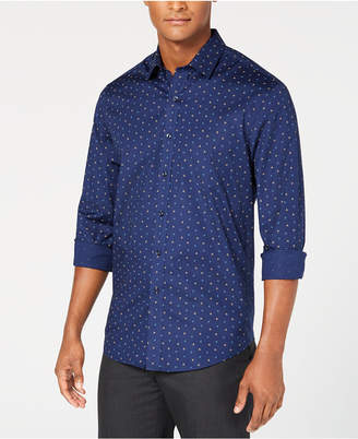 Club Room Men's Grafton Dot-Print Shirt, Created for Macy's