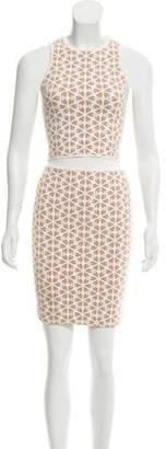 Alexander McQueen Floral Jacquard Skirt Set