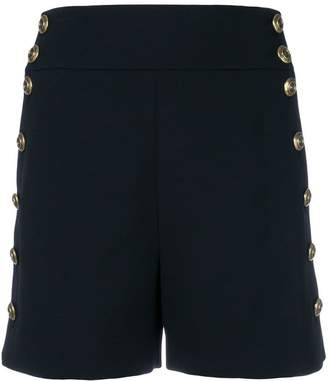Chloé button-embellished fitted shorts