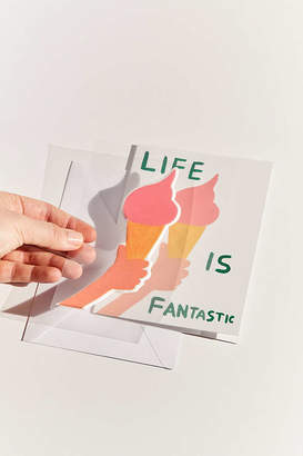 David Shrigley Fantastic Life Puffy Sticker Card