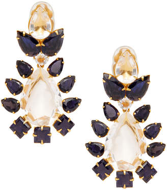 Bounkit Lolite & Quartz Convertible Teardrop Earrings