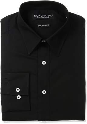 Nick Graham Men's Solid Cotton Dress Shirt