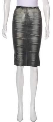 Jitrois Leather Knee-Length Skirt