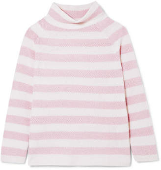 Max Mara Osvaldo Striped Cashmere Turtleneck Sweater - Pink