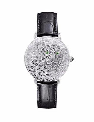 すべてのホワイトチーターメンズレディース実習の設計ダイヤル腕時計ダイヤモンドスワロフスキー限定版Sale