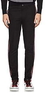 Givenchy Men's Striped Cotton Trousers-Black
