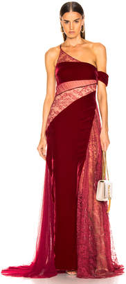 HANEY Liliana Gown in Merlot & Burgundy | FWRD