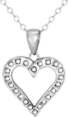 Diamond Fascination Sterling Heart Pendant withChain