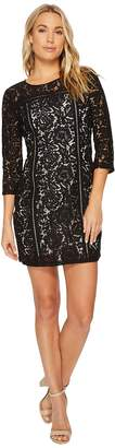 BB Dakota Shelby Floral Dress with Ladder Trim Women's Dress