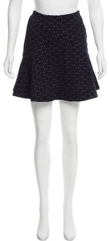 Marc by Marc Jacobs Matelassé Mini Skirt