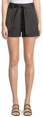 Lafayette 148 New York Greenpoint Urbane Satin Cloth City Shorts