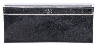 Chanel 2016 Patent Glitter Clutch