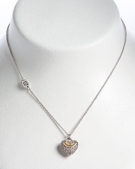 Juicy Couture Wish Pave Heart Necklace