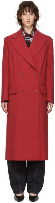 Red Wool Decortique Coat