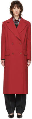 MM6 MAISON MARGIELA Red Wool Decortique Coat