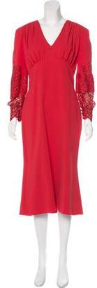 L'Wren Scott Long Sleeve Midi Dress