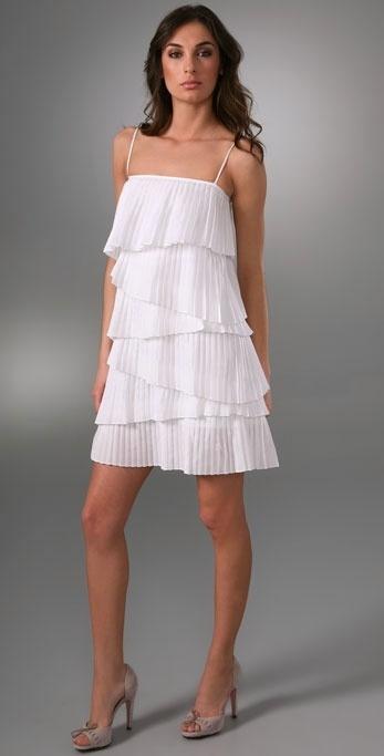 Loeffler Randall Pleated Tier Dress