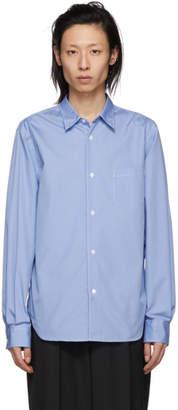 Comme des Garcons Homme Homme Blue Cotton Shirt