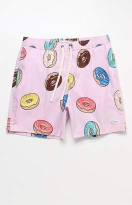"Modern Amusement Donuts 17"" Swim Trunks"