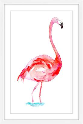 Marmont Hill Inc. Flamingo Bright Pink Framed Print