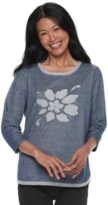 37de385e765ecb Women s Cathy Daniels Floral Lurex Sweater