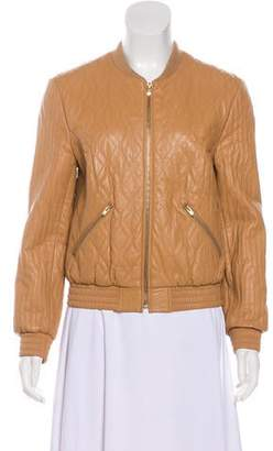 Halston Quilted:Leather Jacket