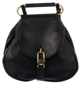 Pre Owned At Therealreal Delvaux Leather Clasp Backpack