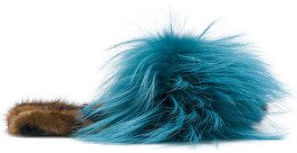 Mr & Mrs Italy fur slippers