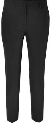 Prada Cropped Crepe Straight-leg Pants - Black