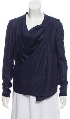 Helmut Lang Leather Draped Jacket