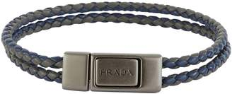 Prada Removable braided leather band