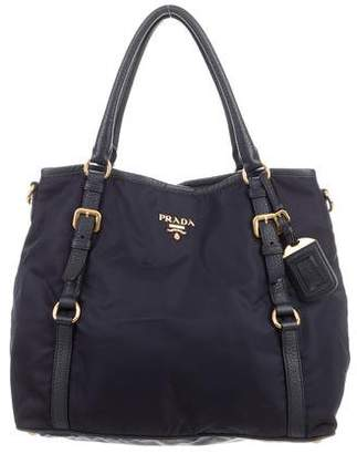 Prada Leather-Trimmed Nylon Bag