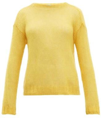 Prada Open Knit Mohair Blend Sweater - Womens - Yellow