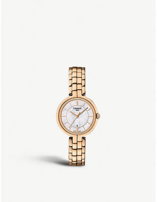 Tissot Flamingo rose gold-plated stainless steel watch
