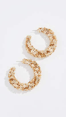 Oscar de la Renta Star Sequin Earrings