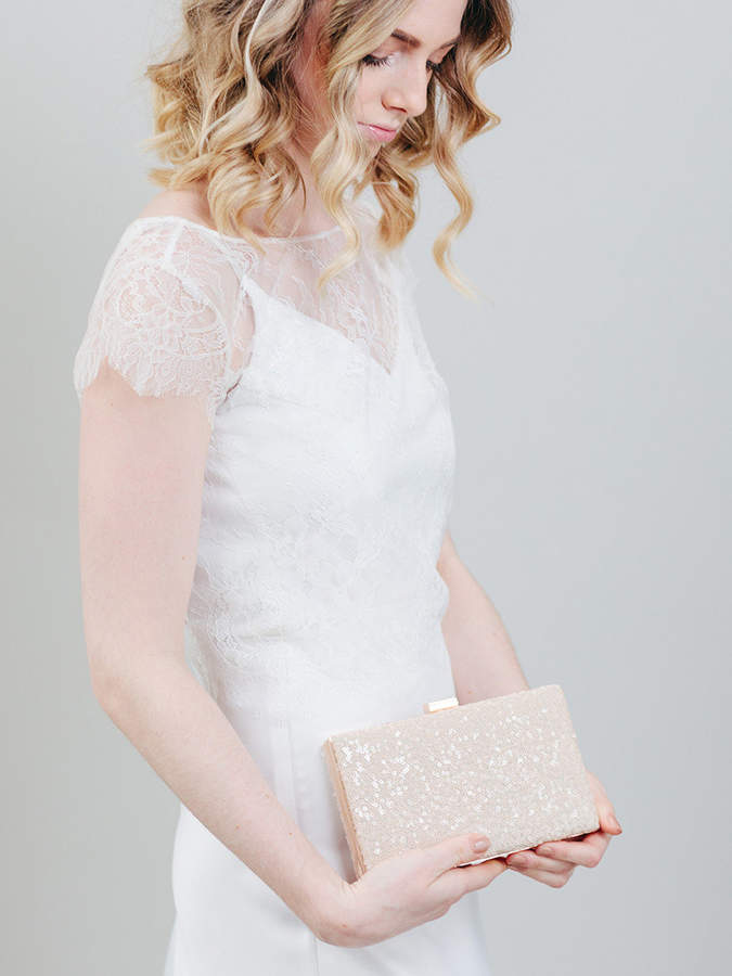 Etsy Blush Sequin Box Clutch | Bridal Clutch | Sequin Clutch | Pink Wedding Clutch [Isla Box Clutch]